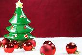 Christmas Balls And Tree