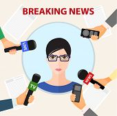 conceptual vector illustration on the theme of breaking news