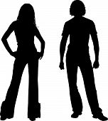 Silhouette fashion couple
