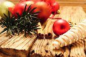 Christmas Ball And Cinnamon