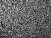 image of thermoplastics  - Full frame closeup of a grey Polystyrene surface - JPG