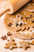 Baking Christmas gingerbread.