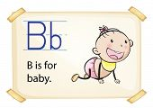 A letter B for baby on a white background
