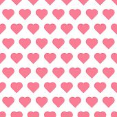 Seamless pattren with hearts
