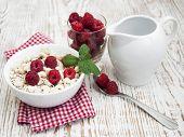 Grain Muesli With Raspberries