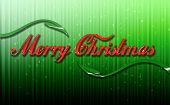 Merry Christmas Red Font Green Matrix With Leaves