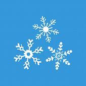 Snowflakes Flat Icon