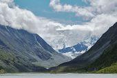 View onto Belukha  the highest peak of Altai