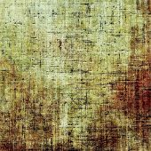 Dirty and weathered old textured background. With different color patterns: gray; green; brown; yellow