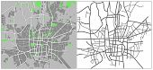 stock photo of tehran  - Illustration city map of Tehran in vector - JPG