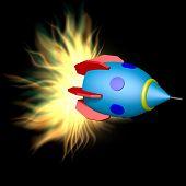 Toy Rocket With Plasma Engine