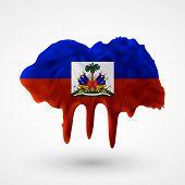 Flag of Haiti painted colors