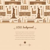 Landmarks of United States of America vector background