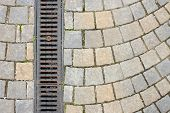 Drainage On Stone Paved Street