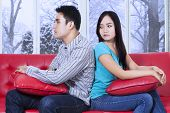 Woman Looks Cold At Her Boyfriend