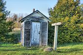 Vintage Outhouse in Rural Michigan