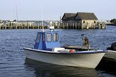 Fishing Boat In Bay Harbor Marina Montauk New York Usa The Hamptons