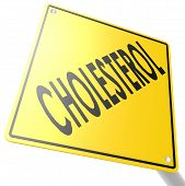 Road Sign With Cholesterol