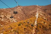 Cableway In Mountains
