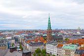 Roof tops of Copenhagen Denmark.