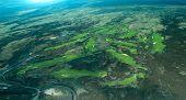 Big Island aerial shot - coastal golf course