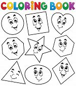 Coloring book various shapes 1 - eps10 vector illustration.