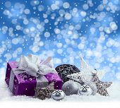 picture of christmas bells  - Purple Christmas package  - JPG