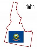 Idaho State Map And Flag