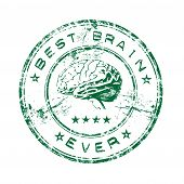 Постер, плакат: Best brain ever rubber stamp