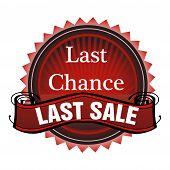 Last chance last sale badge