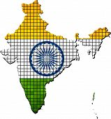 India Map With Flag Inside.eps