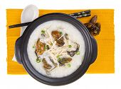 pic of porridge  - China Porridge or Dried Oysters with chicken Porridge - JPG
