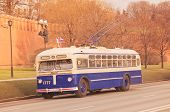 Retro trolleybus.