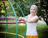 The girl in the children's park