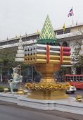 The street of Bangkok in Thailand in the afternoon