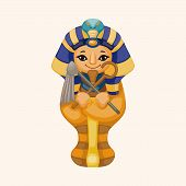stock photo of pharaoh  - Pharaoh Theme Elements - JPG