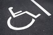 image of disability  - Parking place reserved for disabled people - JPG