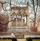 image of mausoleum  - Potocki mausoleum in the park  - JPG