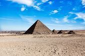 picture of the great pyramids  - The Great Pyramid of a Giza plato - JPG