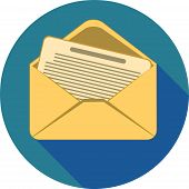 stock photo of spam  - flat icon message envelope mail send spam - JPG