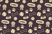 picture of paw  - Seamless pattern with dog - JPG