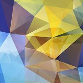 picture of polygon  - Yellow and blue Polygonal abstract geometry background - JPG
