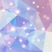 image of polygon  - Pastel blue and purple polygonal abstract geometry background - JPG