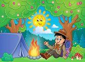 image of boy scout  - Scout boy theme image 2  - JPG