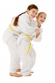 picture of judo  - Kids training judo and having fun studio shoot - JPG