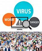 foto of spam  - Virus Internet Security Phishing Spam Concept - JPG