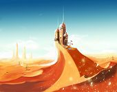 pic of fantastic  - Fantastic Dusty sand land with a fantastic palace - JPG