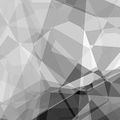 pic of grayscale  - Abstract background in polygonal style and grayscale colors - JPG