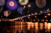 Spectacular Fireworks Festival At Han River