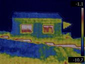 picture of thermal  - Thermal Image of House in the Winter - JPG